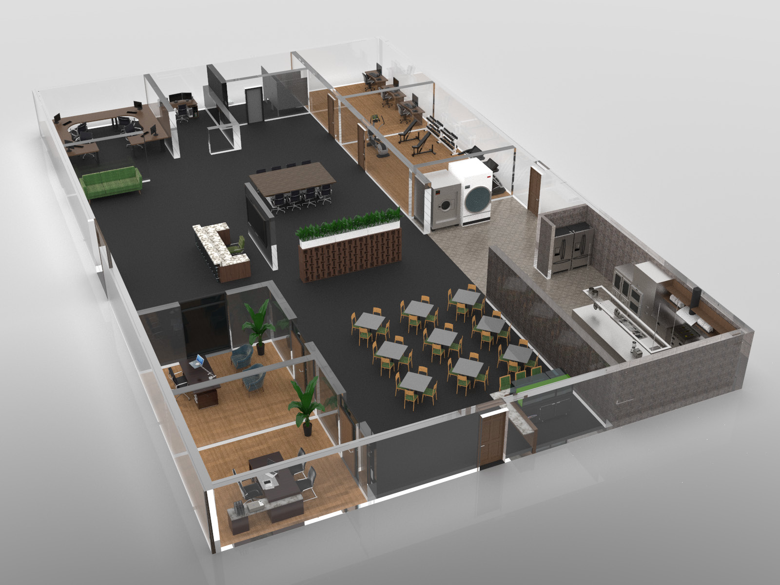 3d rendering showing the inside of the Our Place of Hope Clubhouse